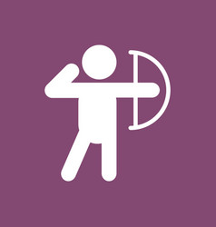 Olympic games archery player athlete icon vector