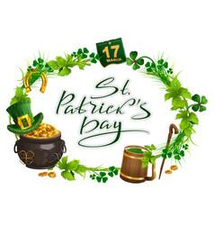 patricks day accessories pot gold beer mug vector image