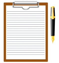 pen and clipboard vector image