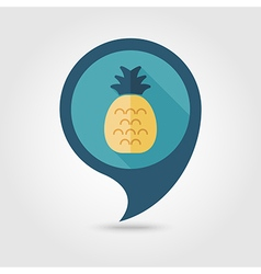 Pineapple flat pin map icon Tropical fruit vector image