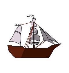 Pirate boat ship vector