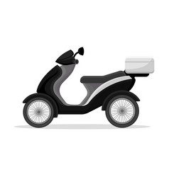Police moped on a white vector