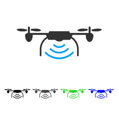 Radio transmitter airdrone flat icon vector