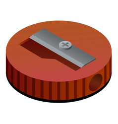 Round sharpener icon isometric style vector