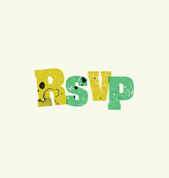 Rsvp concept stamped word art vector