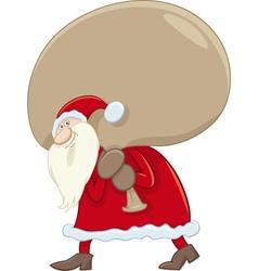 Santa claus with big sack vector