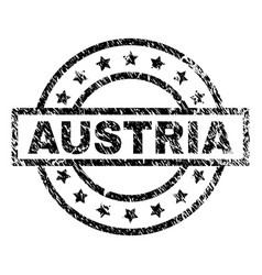 Scratched textured austria stamp seal vector