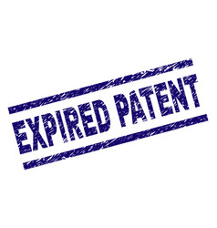 Scratched textured expired patent stamp seal vector