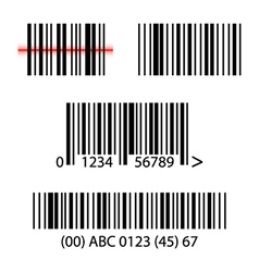 Set collection of barcodes vector