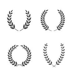 Set laurel wreaths different shapes vector