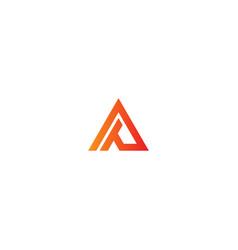 Shape line triangle company logo vector