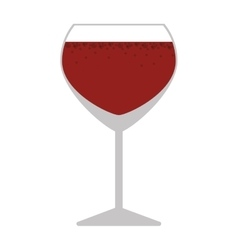 silhouette colorful with wine glass vector image