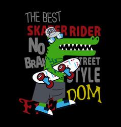 skateboard t shirt vector image