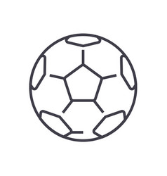 soccer ballfootball line icon sign vector image vector image