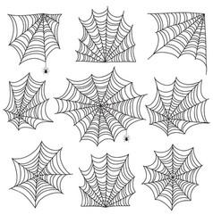 spiderweb spooky cobweb and web corners vector image