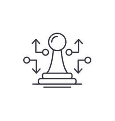 Strategic move line icon concept strategic move vector