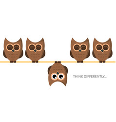 think different funny idea concept unique minimal vector image