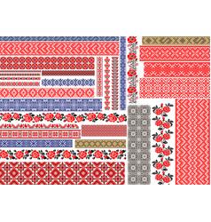 traditional ukrainian seamless ethnic embroidery vector image