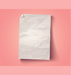 vintage white paper vector image