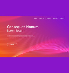 website template design and landing page line vector image