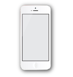 white iphone vector image