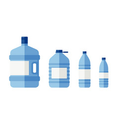 bottles for water vector image