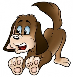 brown dog vector image vector image