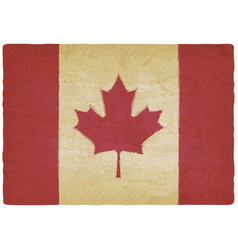 canadian flag in retro colors vintage background vector image
