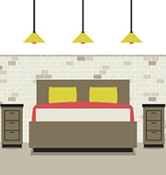 Modern Flat Design Bedroom vector image