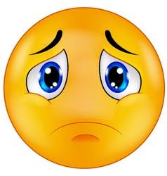 Sad smiley emoticon vector image vector image