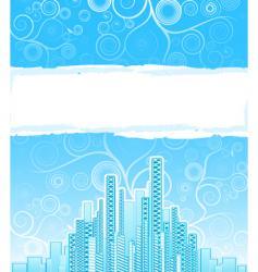 urban spirals advert background vector image vector image