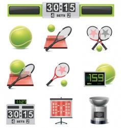 vector tennis icon set vector image vector image