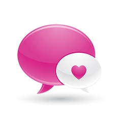 Pink and White Message of Love Icons vector image