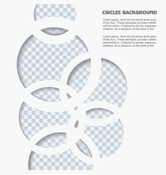white paper circles background vector image vector image