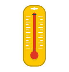 yellow thermometer icon isolated vector image