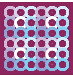 circles geometric pattern vector image