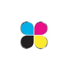Cmyk print logo concept vector