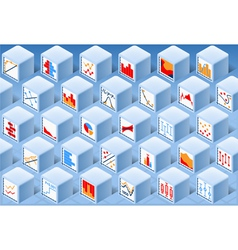 Isometric Stats Element Cube Set vector image vector image