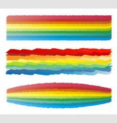 rainbow crayon scribble vector image