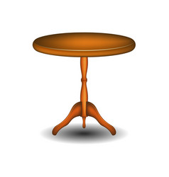 round table in wooden design vector image