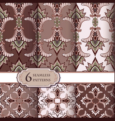 seamless pattern set in vintage style abstract vector image vector image