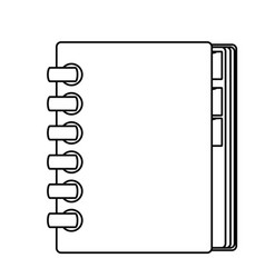 adress book isolated vector image