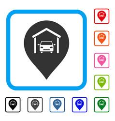 car garage marker framed icon vector image vector image