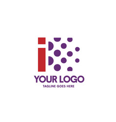 creative letter i logo vector image