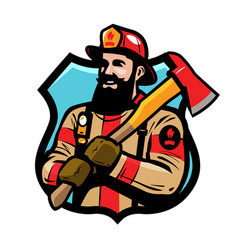fire department logo or label american vector image