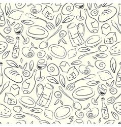 seamless restaurant pattern vector image