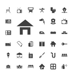 33 home icons vector