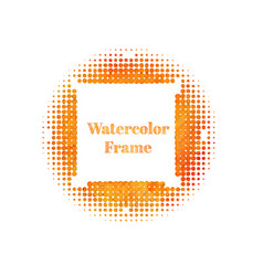 An abstract orange watercolor halftone background vector