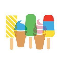background colorful icecream cones and vector image