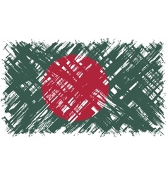 Bangladeshi grunge flag vector